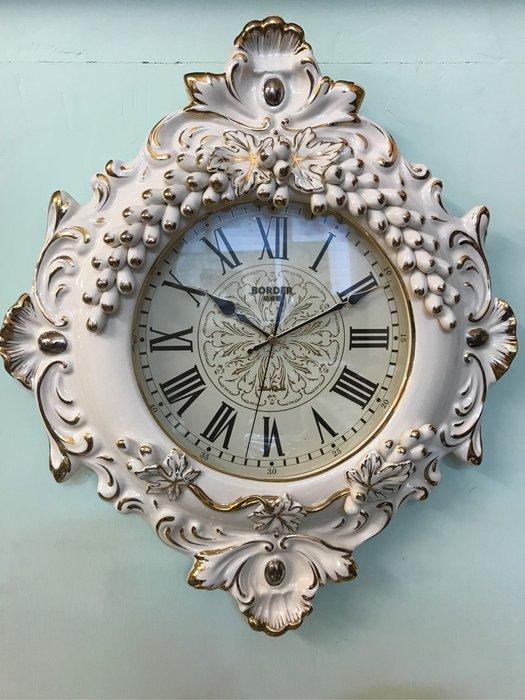 陶瓷描金掛鐘