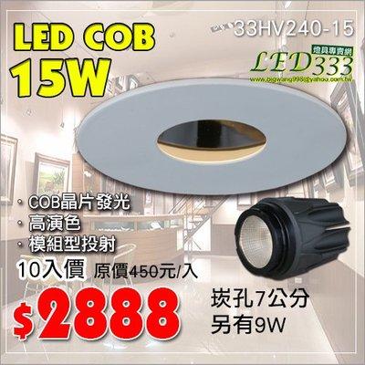 《團購10入組》§LED333§(33HV240-15)LED COB 模組型聚光崁燈7公分櫥窗櫃另有浴室燈陽台燈