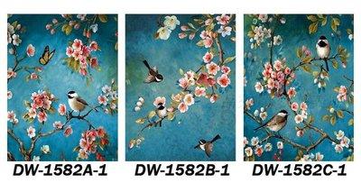 三幅一組油畫布 日系花鳥 畫芯/畫布/30X40☺暖暖屋☺傢居藝術館