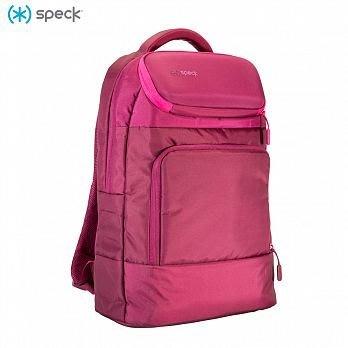 Speck MightyPack 多功能筆記型電腦旅行背包 蘋果筆電 iPad pro包-酒紅/亮粉色