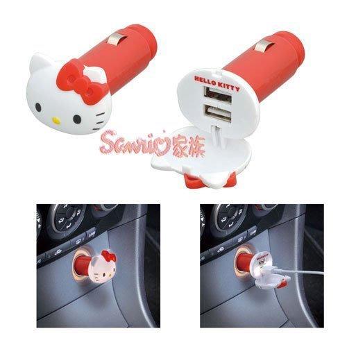 《東京家族》Hello Kitty USB造型 發光車用充電器