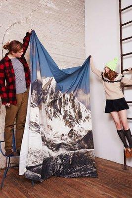 北歐裝飾 掛布臥室 玄關沙發 背景墻布 壁飾掛毯 休閒in s文藝雪 山風景