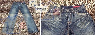 TOUGH Jeansmith 牛仔褲 直筒 刷色款 男款-顏色:刷色藍-尺寸:29腰【J&K嚴選】LV來自星星的你