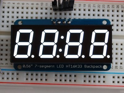 "0.56"" 4-Digit 7-Segment Display w/I2C"