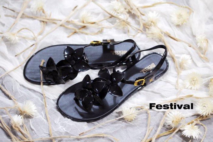 嘉年華 巴西人字鞋 Melissa 時尚花朵夾腳涼鞋 零碼出清