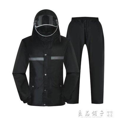 雨衣雨褲套裝電瓶車摩托車雨衣男分體加厚...