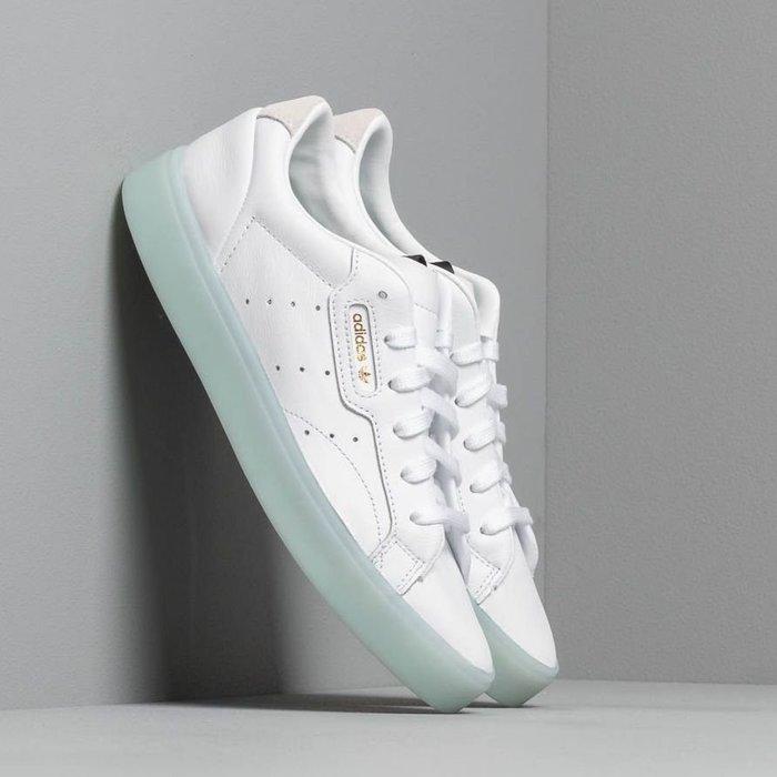 Washoes adidas Originals SLEEK W 白 綠 G27342 果凍底 女鞋 休閒 復古 百搭