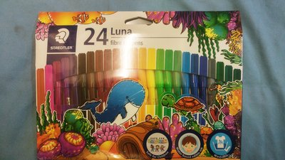 {阿治嬤} 施德樓 STAEDTLER Luna系列 可水洗 彩色筆 24色 MS327-LWP24 細彩色筆