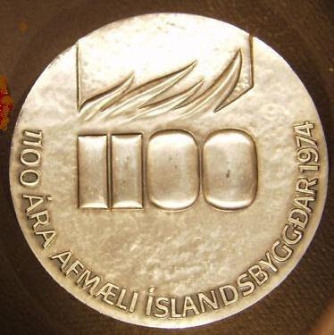 冰島銀銅大對章 1974 Iceland 1100th years anniversary Medals.