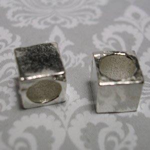 琥珀貓~【925純銀材料配件】方珠~N0046~一個