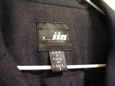 全新百貨專櫃正品  [ JIN 慶百 ]   氣質  OL  鐵灰黑色 45 % 羊毛料輕感俐落女款長袖西裝外套
