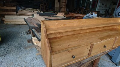 矮遞爾木藝館-松木櫃