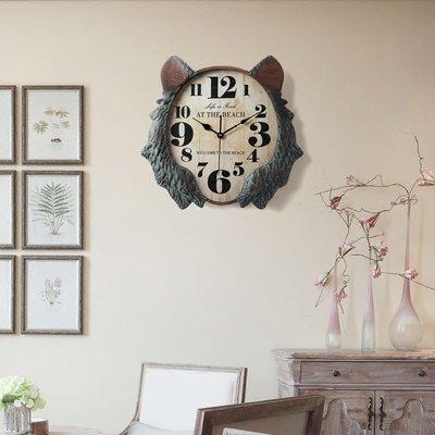 〖洋碼頭〗北歐復古鐘餐廳掛鐘客廳創意個性大氣時鐘北歐式掛表靜音石英鐘表 ogh165