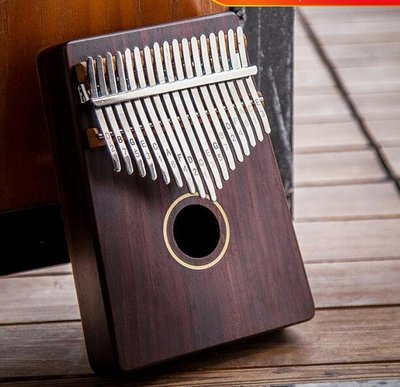 小花花精貨店-安德魯17音拇指琴卡林巴琴kalimba卡靈巴手指鋼琴初學者便攜樂器#拇指琴