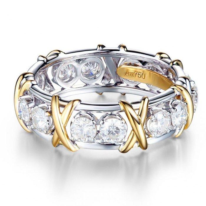 伊莎貝拉輕珠寶系列-時尚18金鑽石環戒
