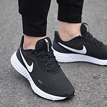 ⚡️潮鞋瘋⚡️NIKE REVOLUTION 5 黑色 白勾 舒適 百搭 運動 慢跑 女鞋 BQ3207-002