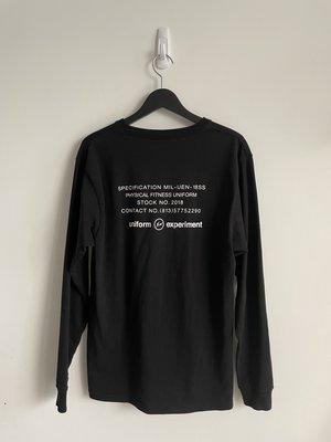 【寶藏屋】 Uniform Experiment 18SS Fragment Soph. 閃電 藤原浩 長 Tee T恤