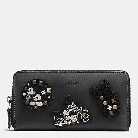 ~☆.•°莎莎~*~~☆~ COACH 59340 Disney Mickey 米奇米老鼠特殊款 黑色現貨