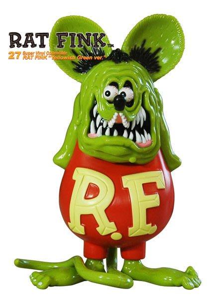 (I LOVE樂多)日本製RAT FINK Soft Vinyl Statue(青綠)經典站姿老鼠芬克公仔 RF值得你收藏
