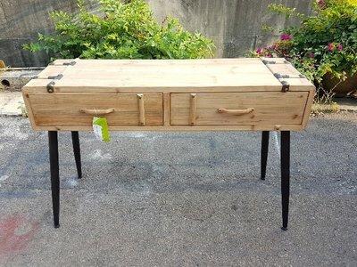 彰化二手貨(原線東路二手貨) ---- 全新庫存NG品 杉木書桌 玄關桌