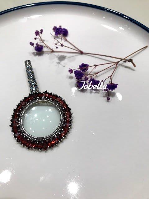 ✽JoBella 日本空運 日本代購 日貨✽ 925銀 復古寶石放大鏡造型吊飾 現貨