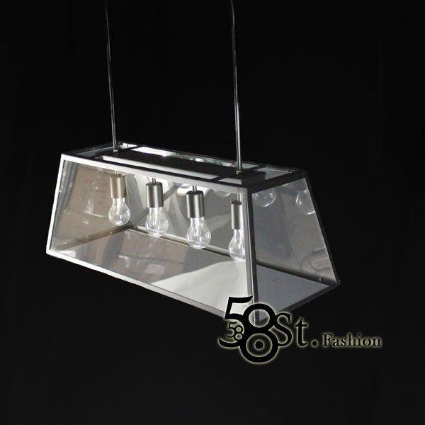 【58街】設計師款式「Teng 2代餐吊燈_黑色、古銅色_小款」複刻版。GH-300
