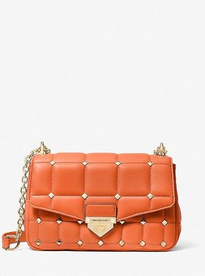 MICHAEL KORS SoHo Large Studded Quilted Leather Shoul  5/25止