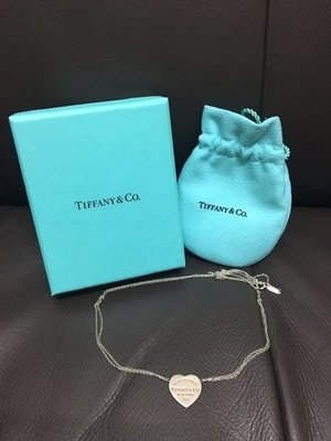 Tiffany & Co. Return to Tiffany 925 純銀 頸 項鏈 鍊 真 Sterling Silver Heart Necklace