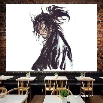 浪人劍客 井上雄彥掛布 背景布 直播 家飾 家居 裝飾 桌布 卡通 武士 日本