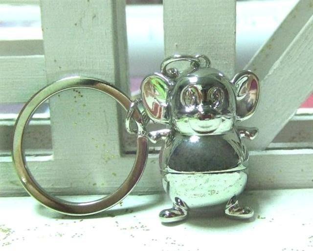 ☆創意小物店☆ 富貴胖鼠 鑰匙扣 時尚造型個性飾品