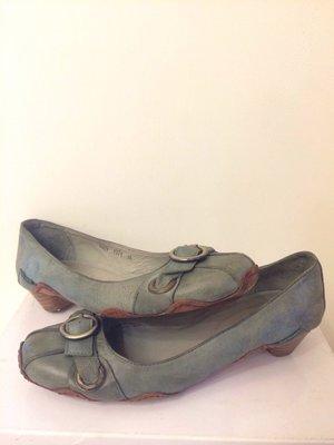專櫃Dime品牌-仿古義大利軟牛皮包鞋