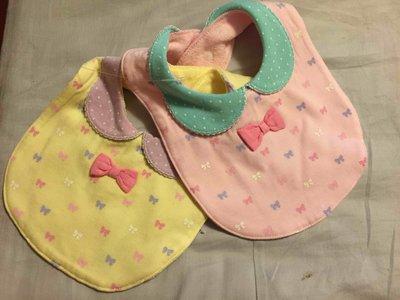 日本人氣童裝品牌motherways  蝴蝶結假領結二件組圍兜