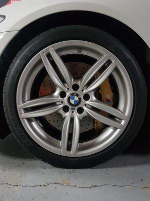 BMW F10原廠19吋前後配鋁圈 中古9成新351M 3系列 5系列F30 F10 F11 F12 F13 X3 X4