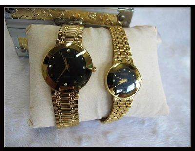 二手舖~ NO.12 高級時尚瑞士雅哥ACCORD男女對錶 原價6660元優惠價1對只賣1600元 庫存全新品