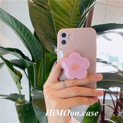 W哎咪手機配件~花朵支架適用紅米9手機殼note9奶油粉色K30s至尊小米10青春版光面