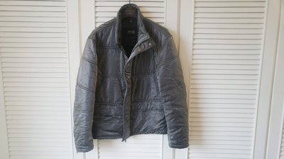 凡賽斯 Versace V2 金屬銀未來科技感鋪棉夾克外套