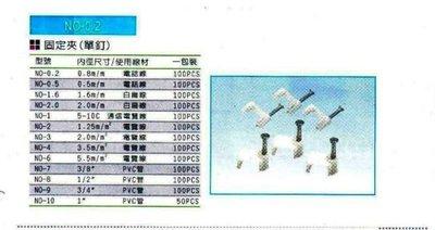 *東北五金*專業電纜線固定夾,電線固定夾,夾線釘,纜線釘,各種尺寸優惠價!(NO-0.5)
