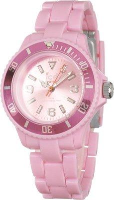 [永達利鐘錶 ] ICE watch 粉色玻璃纖維鍊帶錶(中)CS.PK.U.P.10 原廠公司保固24個月 38mm