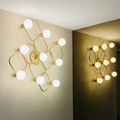 【18Park】經典美學 Golden Corridor [ 金域廊道吸頂燈/壁燈-花型9燈 ]