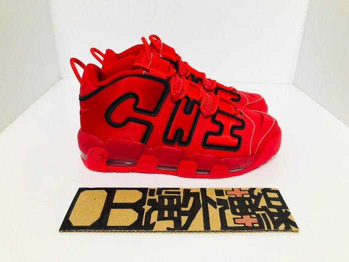 Nike Air More Uptempo Chicago 復古 籃球鞋 芝加哥 黑紅 絲綢字體 AJ3138-600