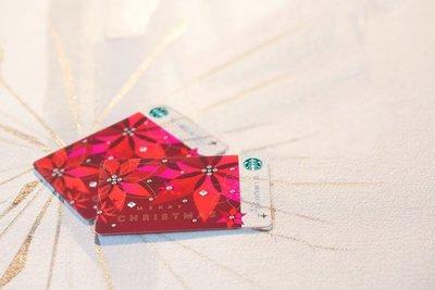 台灣 星巴克 STARBUCKS 全新2014 閃耀耶誕隨行卡 水晶隨行卡