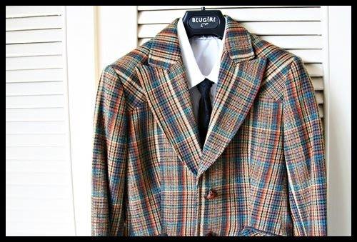 歐碼【MAX & CO】威爾斯七彩格紋單排兩扣短版英倫風學院外套