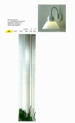 德國名牌 LIMBURG WALL LUMINAIRE FOR 1 X E27 75W GLS LAMP MODEL NO. 3221