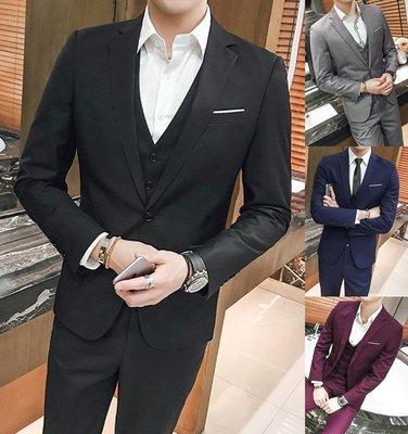 【韓之谷】<素面西裝外套> 免運 正式西裝西服 結婚禮服西裝 韓版雅痞西裝男 商務素色西裝 舞台表演西裝 男西裝 男外套