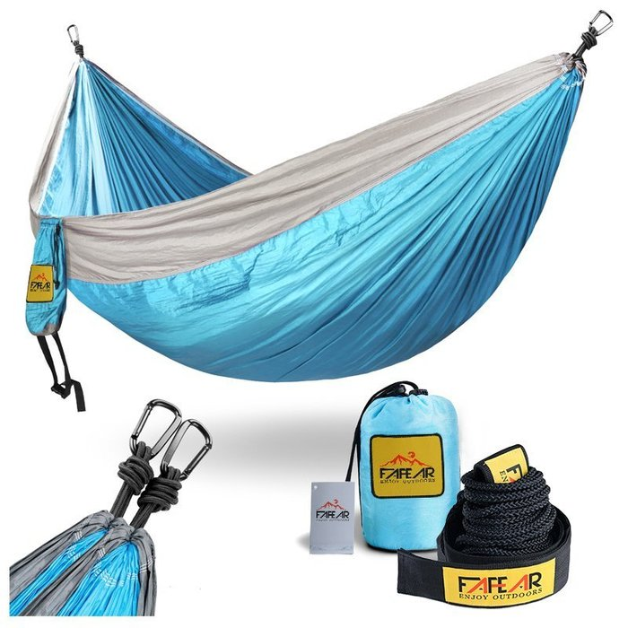 現貨/法菲亞FAFEAR吊床戶外雙人單人降落傘布便攜收納野營休閒秋千46SP5RL/ 最低促銷價