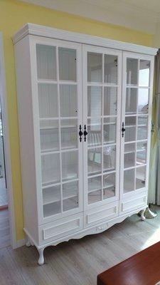 戀戀小木屋  美式華麗版書櫃 展示櫃 ...