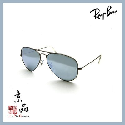 【RAYBAN】RB3025 029/30 58mm 霧鐵灰框 水銀墨綠色片 雷朋太陽眼鏡 公司貨 JPG 京品眼鏡
