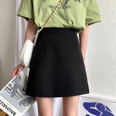 『LOCO』 高腰短裙女正韓顯瘦開叉半身裙子短款A字裙CO686