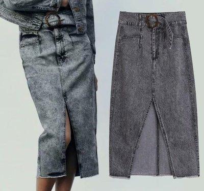 #牛仔裙#歐美新款夏季酸洗迷笛牛仔裙窄裙一步裙S33-34676
