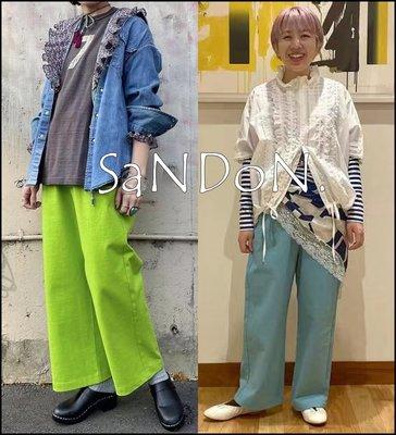 山東:BEAMS BOY / 亮色系混搭配設計鬆緊綁帶九分褲 SLY 210527